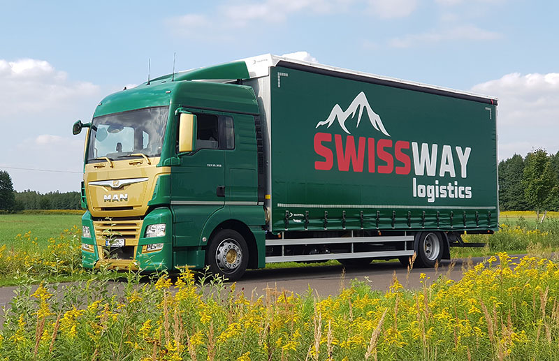 Nakladení vozidlo SWISSWAY